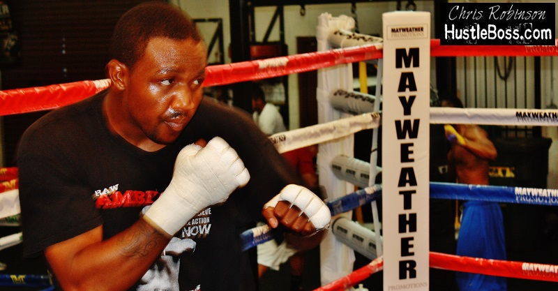 Sparring malik bazille at the mayweather boxing club march 2013