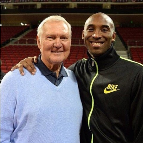 Kobe and Jerry West