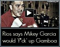 Rios rips Gamboa