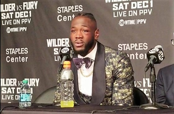 Wilder Post Fight for HB